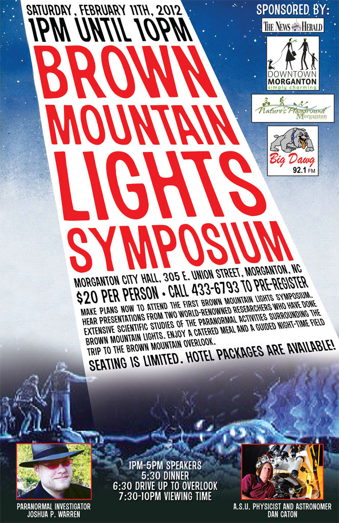 Promotional Poster for Brown Mountain Lights Symposium