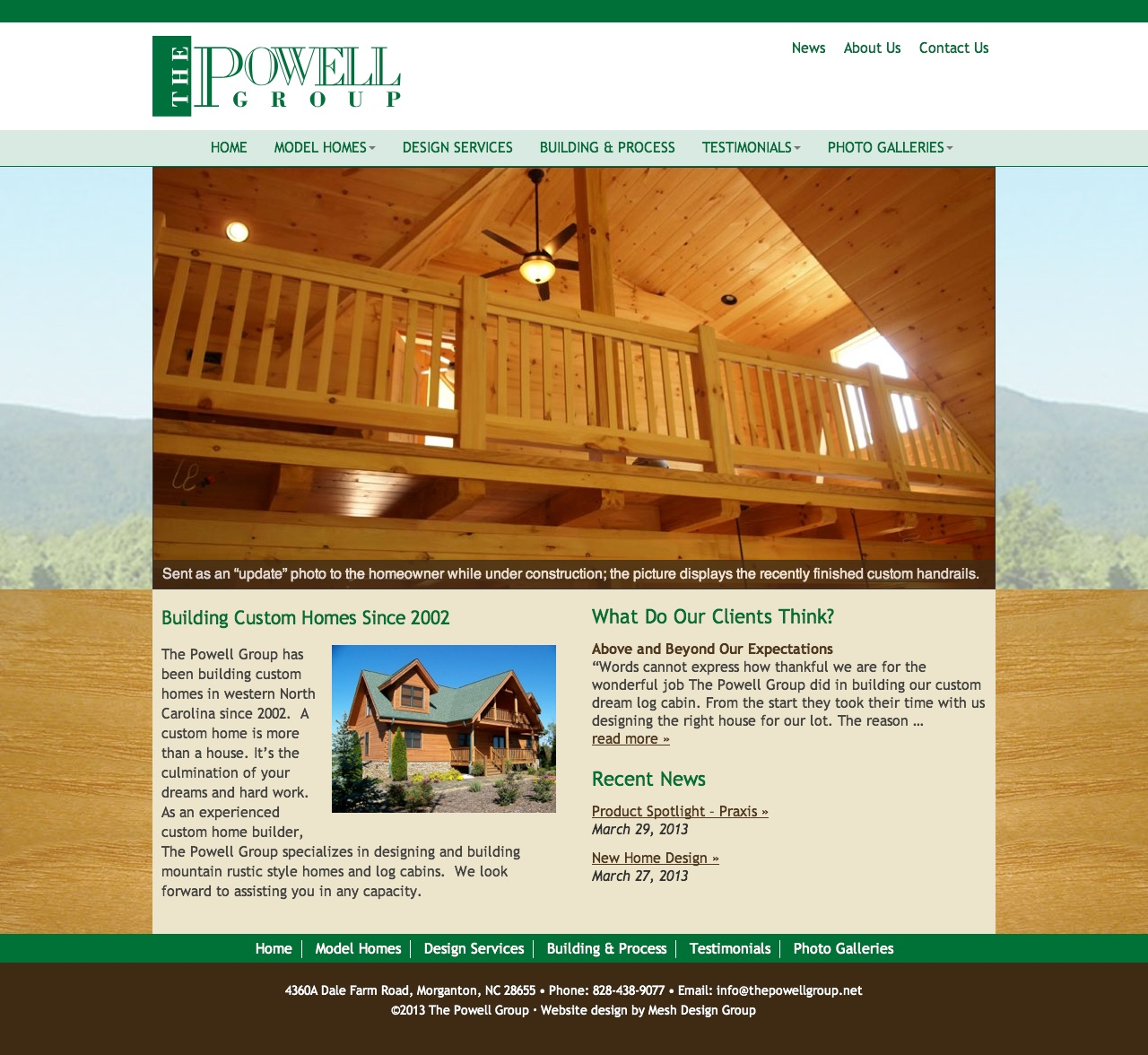 Website design for The Powell Group