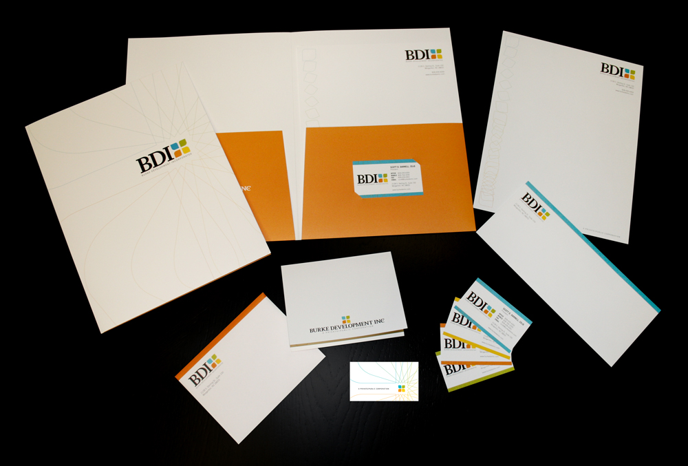 Print Collateral for Burke Development, Inc.