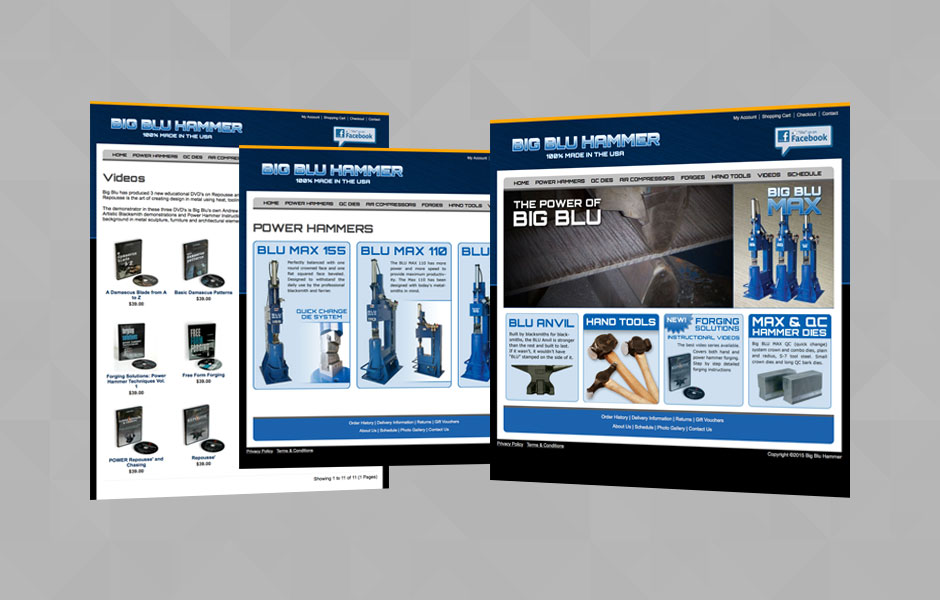 Website Design for Big Blu Hammer