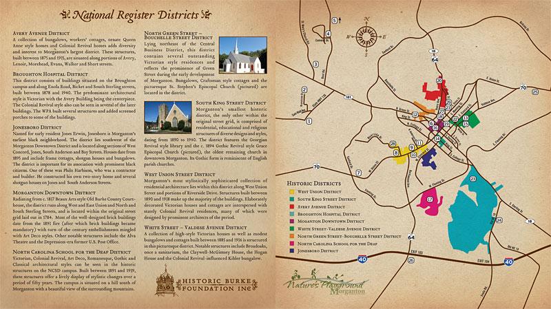 Brochure design for Historic Burke Foundation, Inc.