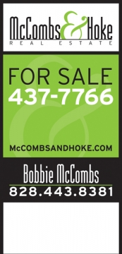 Signage for McCombs & Hoke Real Estate
