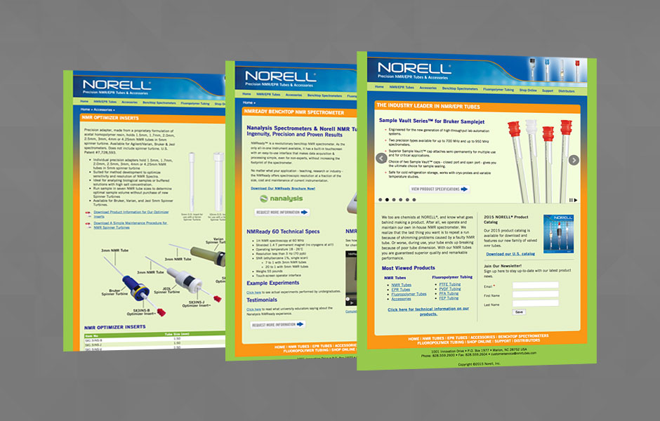 Website design for Norell, Inc.
