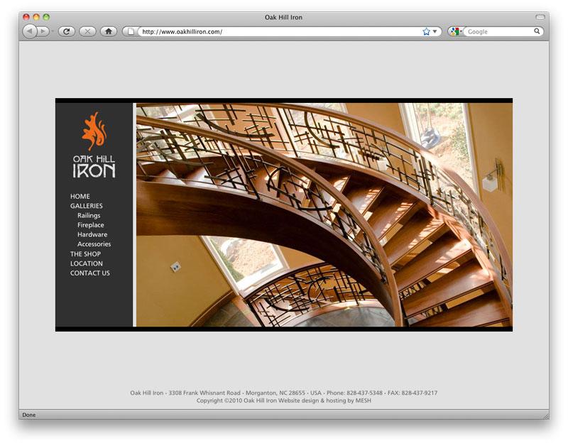 Website design for Oak Hill Iron