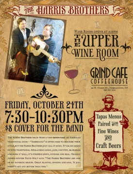 Local Event Flyer for The Grind Cafe Coffeehouse