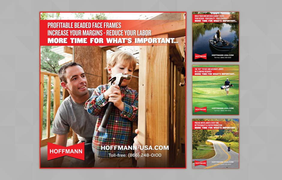 Print ads for Hoffmann Machine Company
